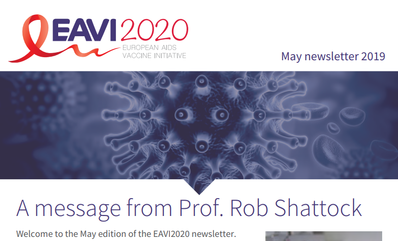 screenshot of the EAVI2020 May 2019 newsletter