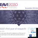 screenshot of the EAVI2020 November 2016 newsletter