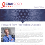 screenshot of the EAVI2020 Autumn 2019 newsletter