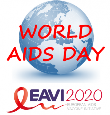 world aids day and eavi2020 logo