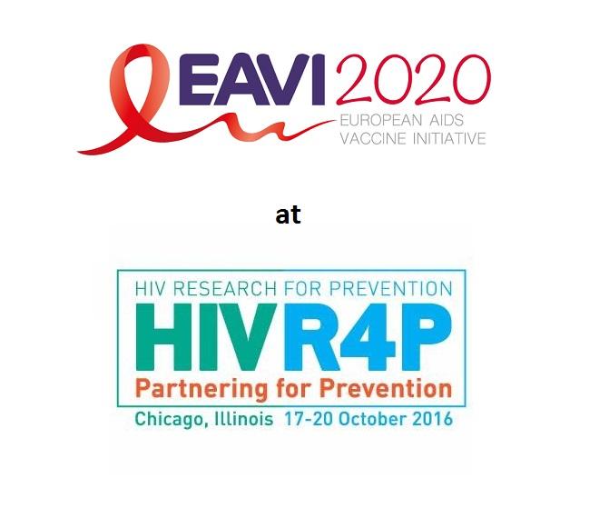 EAVI2020 logo and HIVR4P logo 2016