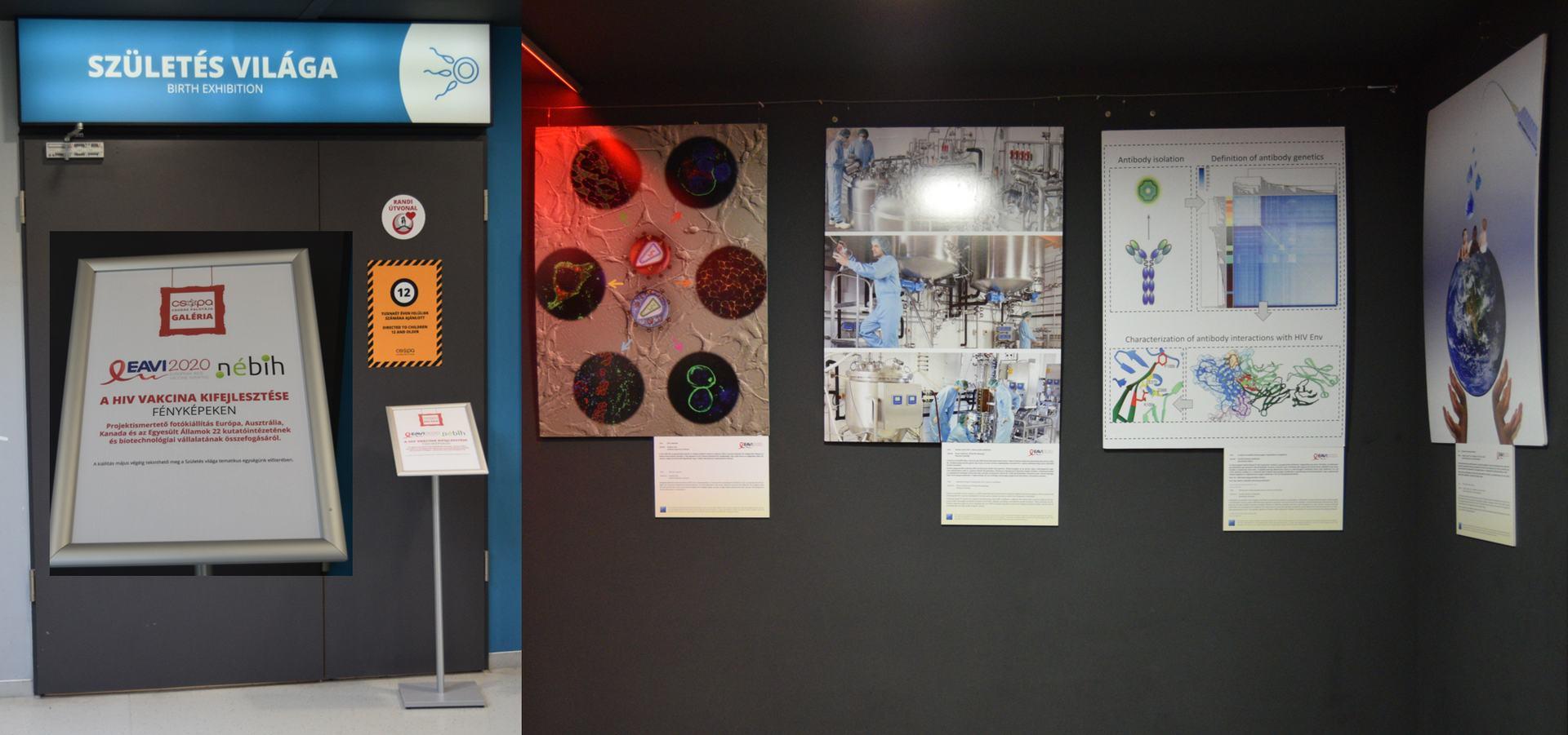 EAVI2020 photos on walls at CSOPA