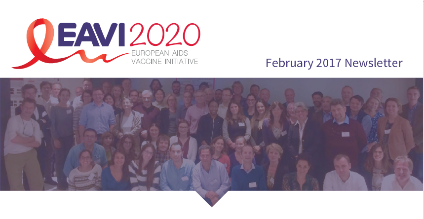 screenshot of the EAVI2020 February 2017 newsletter
